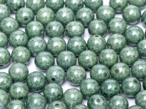 06-R-03000-14459 Chalk Teal Luster Round 6 mm. 50 Pc.-0