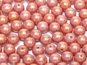 06-R-03000-14495 Chalk Red Luster Round 6 mm. 50 Pc.-0