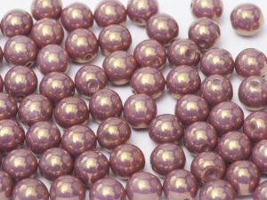 06-R-03000-14496 Chalk Bronze/Lila-Vega Luster Round 6 mm. 50 Pc.-0