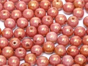 06-R-03000-14497 Chalk Copper/Red Luster Round 6 mm. 50 Pc.-0