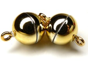 Acryl Magnetic Clasp: Shiny Gold 10 mm.-0