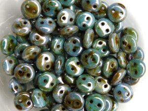 CML-02010-65431 CzechMate Lentils Alabaster Lazure Blue/Green 40 Pc.-0