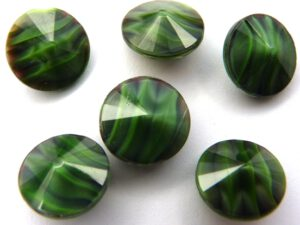 RIV-12-23980-52020 Jet-Green Silk Swirl Rivoli 12 mm. .-0