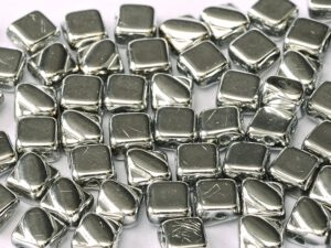 SL-00030-27000 Silky Bead Crystal Full Silver 30 Pc.-0
