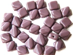 SL-23030 Silky Bead Opaque Amethyst 30 Pc.-0