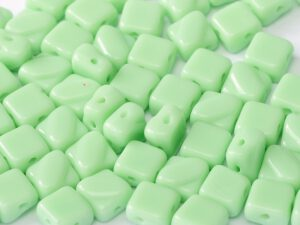 SL-53100 Silky Bead Opaque ( Light) Mint Green 30 Pc.-0