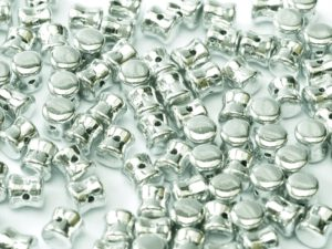 PEL-00030-27000 Crystal Full Silver Pellet ( Diabolo)Beads 50 Pc.-0
