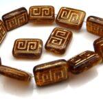 0030054 Topaz melee, Gold design 12 Pc.-0
