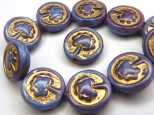 0080230 Blue Raspberry Swirl, Gold decor, Live Tree 10 Pc.-0