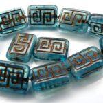 0090030 Aquamarine melee, Copper design 12 Pc.-0