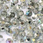 0150135 Crystal Silver Rainbow facet, 4mm. 50 stuks-0