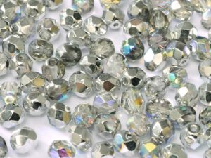 0150135 Crystal Silver Rainbow facet, 4mm. 50 stuks-0