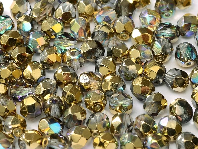 0150161 Crystal Golden Rainbow facet, 4mm. 50 stuks-0