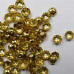0160066 kralenkapjes 75 stuks goudkleur