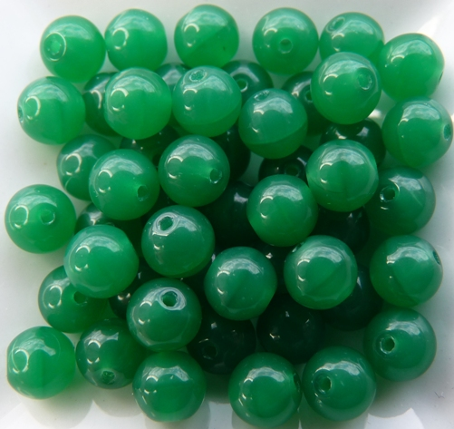 06-R-52040 Malachite Green Round 6 mm. 50 Pc.-0