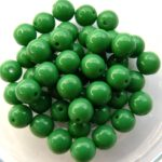 06-R-53230 Opaque Green Round 6 mm. 50 Pc.-0
