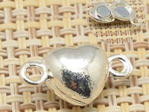 0160233 Brass Magnetisch hartvormig slotje, Silver Color -0