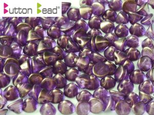 BB-00030-29262 Button Bead® Crystal Golden Touch Magenta 50 Pc.-0