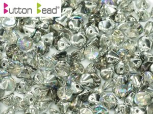 BB-00030-98530 Button Bead® Crystal Silver Rainbow 50 Pc.-0