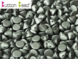 BB-02010-29403 Button Bead® Alabaster Metallic Mat Steel 50 Pc.-0