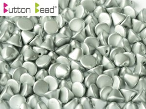 BB-02010-29405 Button Bead® Alabaster Metallic Mat Silver 50 Pc.-0
