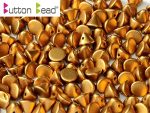 BB-02010-29415 Button Bead® Alabaster Metallic Mat Brass 50 Pc.-0