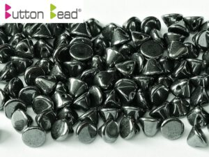 BB-23980-14400 Button Bead® Jet Hematite 50 Pc.-0