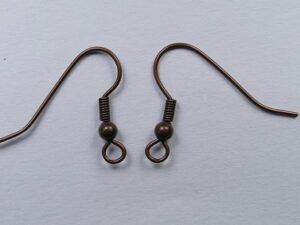 0160041 Bronskleurige oorbelhaakjes 20 stuks-0