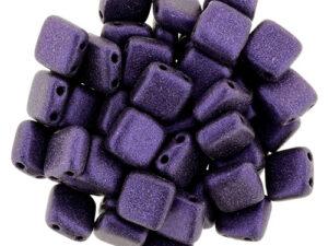 CMT-23980-79021 CzechMates Tile Bead Metallic Suede Purple 25 st.-0