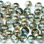 04-R-00030-98537 Crystal Graphite Rainbow Round 4 mm. 100 Pc.-0