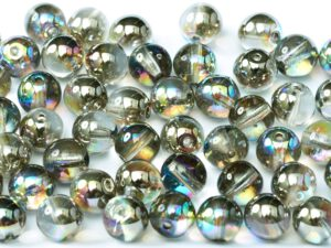 04-R-00030-98537 Crystal Graphite Rainbow Round 4 mm. 100 Pc.-0