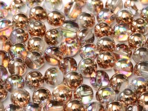 04-R-00030-98533 Crystal Copper Rainbow Round 4 mm. 100 Pc.-0