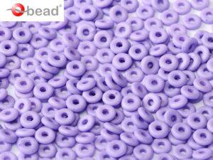 O-02010-29570 Opaque Silk Mat Violet O bead ® 5 gram-0