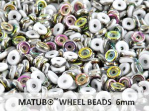 WB-03000-28101 Chalk White Vitrail Matubo® Wheel Beads Ø 6 mm. 10 gram-0