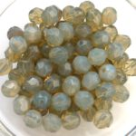 0020227 Opal Grey facet 6 mm. 25 Pc.-0