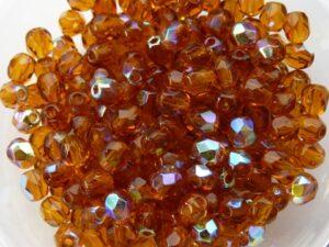 0030204 Dark Topaz AB facet 4 mm. 50 Pc.-0