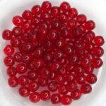 04-R-90080 Siam Red, Round 4 mm. 100 Pc.-0