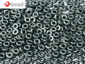 O-02010-25037 Pastel Dark Grey O bead ® 5 gram-0