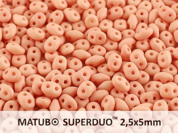 SD-02010-29563 Superduo Silk Mat Opaque Light Peach 10 gram-0