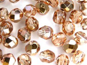 0070311 Crystal met Capri Gold facet 8 mm. 15 stuks-0