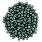 02-R-23980-79051 Metallic Suede Lt Green round 2 mm. 150 Pc.-0