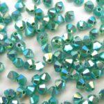 03-MC-63130-28701X2 Green Turquoise 2 x AB 3 mm. 50  Pc.-0