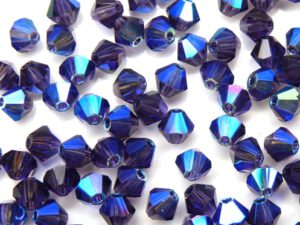 04-MC-20510-28701X2 Bicones Tanzanite 2XAB 4 mm. 50 Pc.-0