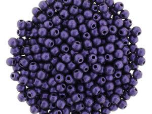 02-R-23980-79021 Metallic Suede Purple round 2 mm. 150 Pc.-0