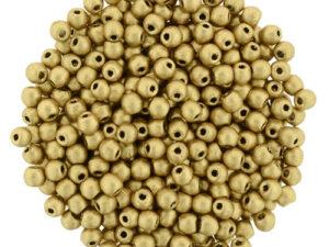 02-R-00030-01710 Silky Gold (Matte Metallic Flax) 2 mm. 150 Pc.-0