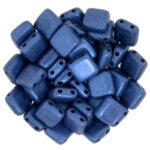 CMT-23980-79031 CzechMates Tile Bead Metallic Suede Blue 22 st.-0