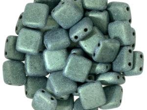 CMT-23980-79051 CzechMates Tile Bead Metallic Suede Light Green 22 st.-0