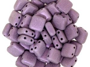 CMT-23980-79086 CzechMates Tile Bead Metallic Suede Pink 25 st.-0