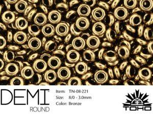 TN-08-0221 Demi Round TOHO: Bronze-0