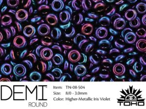 TN-08-0504 Demi Round TOHO: Higher-Metallic Iris Violet-0
